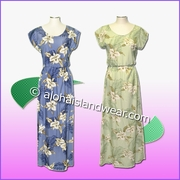 Full Length Hawaiian Luau Dress - 809
