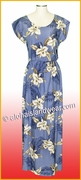 Full Length Hawaiian Luau Dress - 809Blue