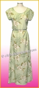 Full Length Hawaiian Luau Dress - 809Green