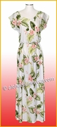 Full Length Hawaiian Luau Dress - 812White/Pink Orchid