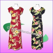 Full Length Hawaiian Luau Dress  - 820