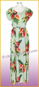 Full Length Hawaiian Luau Dress - 821Green