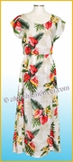 Full Length Hawaiian Luau Dress - 821White