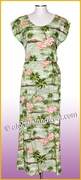 Full Length Hawaiian Luau Dress - 823Green