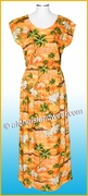Full Length Hawaiian Luau Dress - 823Orange
