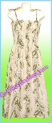 Full-Length Hawaiian Smock Dress - 456Cream