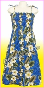 Full Length Hawaiian Smock Dress - 449Navy