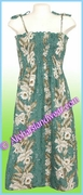 Full Length Hawaiian Smock Dress - 456Green