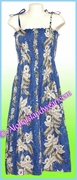 Full Length Hawaiian Smock Dress - 456Navy