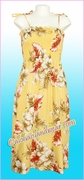 Full Length Hawaiian Smock Dress - 471Yellow