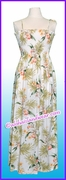Full Length Hawaiian Smock Dress - 824White