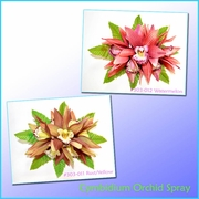 Cymbidium Orchid Spray Large Hair Clip