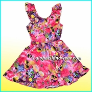 Girl Aloha Dress - 182Red