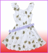 Girl Aloha Dress - 435White