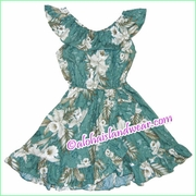 Girl Aloha Dress - 456Green