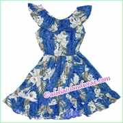 Girl Aloha Dress - 456Navy