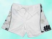 Girl Board Short - White