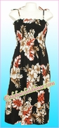 Full Length Hawaiian Smock Dress - 471Black