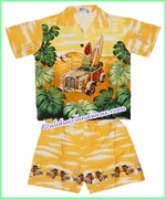 Hawaiian Boy Cabana Set - 331Yellow