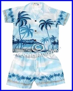 Hawaiian Boy Set - 01Blue