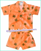 Hawaiian Boy Set - 435Orange