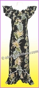 Hawaiian Elegant Dress - 438Black