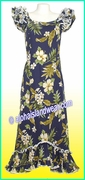 Hawaiian Island Dress - 403Navy