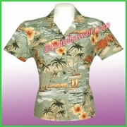 Hawaiian Lady Blouse - 357Green