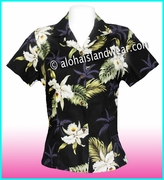 Hawaiian Lady Blouse - 413Black