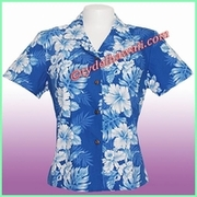 Hawaiian Lady Blouse - 4340Navy