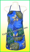Hawaiian Print Apron - 502Navy