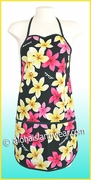 Hawaiian Print Apron - 902Black
