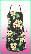 Hawaiian Print Apron -164Black