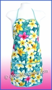 Hawaiian print Apron - 301Teal