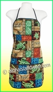 Hawaiian Print Apron - 702Mix