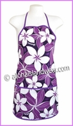 Hawaiian Print Apron - 153Purple
