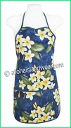 Hawaiian Print Apron - Navy