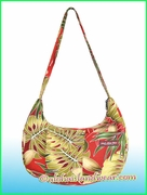 Hawaiian Print Banana Shaped Purse - 503Red