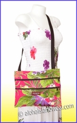 Hawaiian Print Cross-Body Ipad Bag - 121Pink
