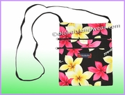 Hawaiian print Cross Body Side Bag- 902Black