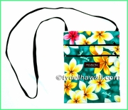 Hawaiian Print Cross-Body Side Bag - 301Teal