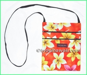 Hawaiian Print Cross-Body Side Bag - 303Orange