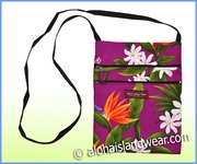 Hawaiian Print Cross-Body Side Bag - 111Lavender