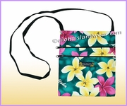 Hawaiian print Cross-Body Side Bag - 901Teal