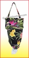 Hawaiian Print Grocery Plastic Bags Holder & Dispenser - Black