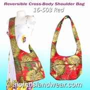 Reversible Cross-Body Shoulder Bag - 503Red