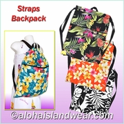 Hawaiian Print Straps Backpack