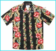 Hawaiian Rayon Shirt - 254Black