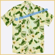 Hawaiian Rayon Shirt - 807Yellow