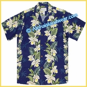 Hawaiian Rayon Shirt - 811Navy